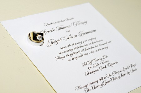 An LDS wedding invitaiton