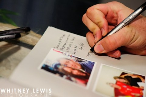 LDS wedding reception guest book