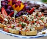 Appetizers and Hors d'oeuvres at an LDS Wedding Reception