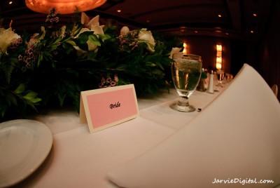 an LDS bride's name card