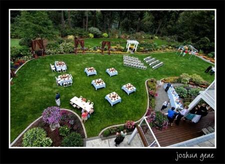 LDS wedding reception details