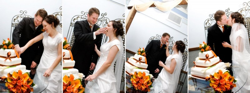 How to cut LDS wedding cake