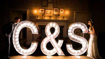 Illuminated Letter Hire  Wedding Letter Hire