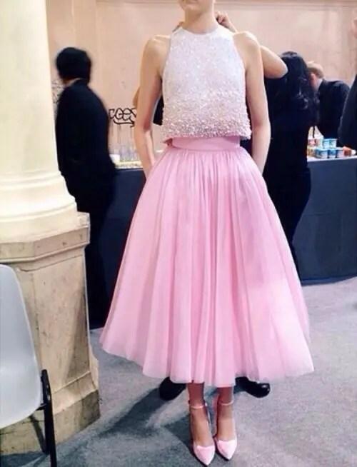 Stunning Crop Top Bridesmaids Outfit