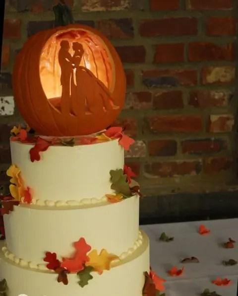 Fun Pumpkin Wedding Cake