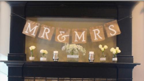 Easy DIY Mr. & Mrs. Burlap Wedding Banner