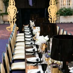 Christmas Chair Covers White Chevron High Great Ideas For An Elegant Black And Gold Wedding Color Theme - Crazyforus