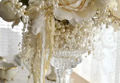 Ideas About Lace Wedding Centerpieces On Pinterest