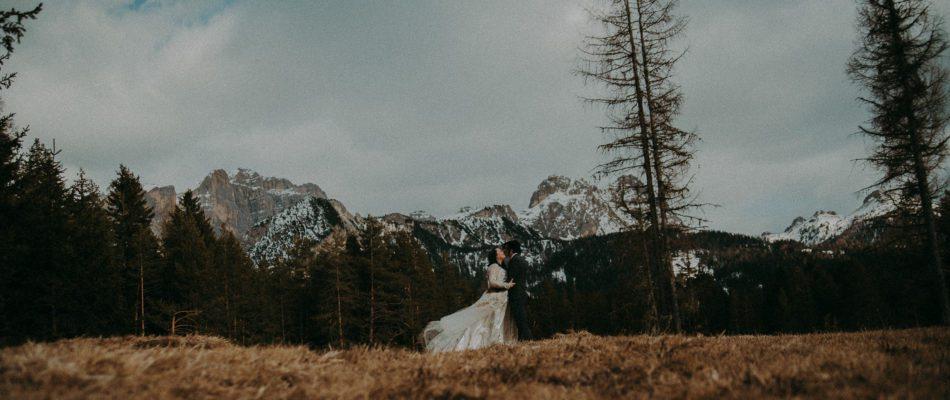 Alta Badia Matrimonio a Marzo con brutto tempo