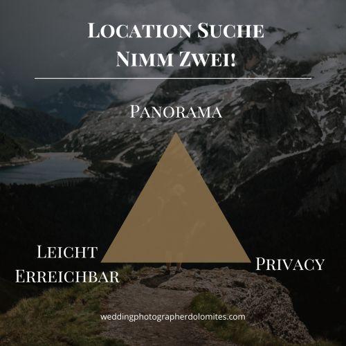 Hochzeitslocations Dolomiten Berge Südtirol