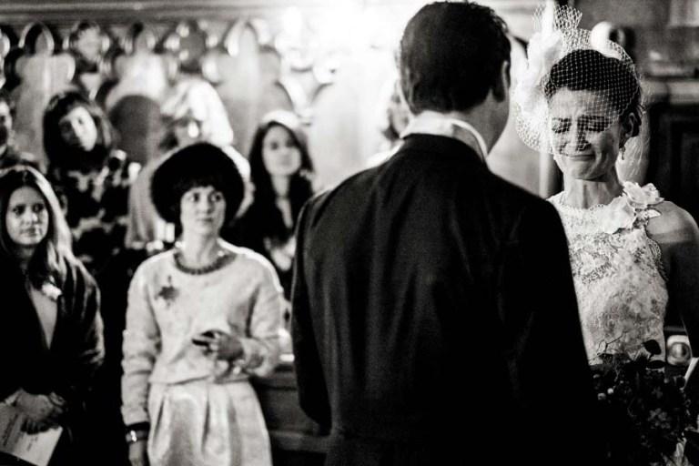 Couple saying vows at wedding