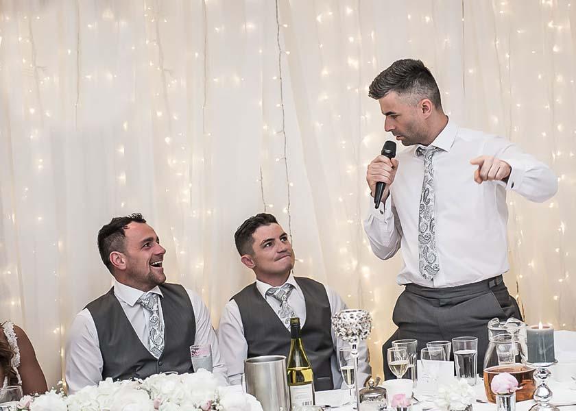 speeches at Stirk House Hotel wedding