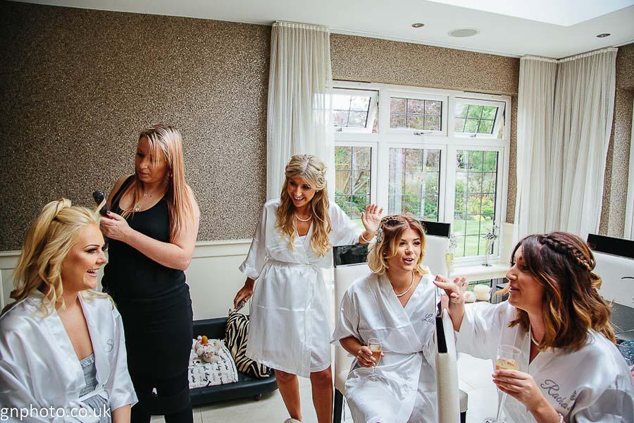 Thornton Hall bridesmaids