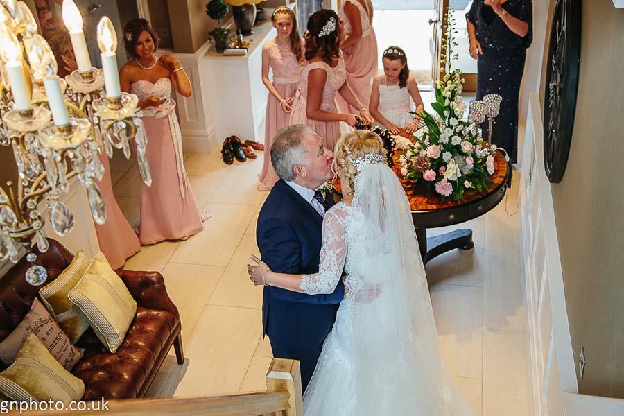 bride meets father Thornton Manor