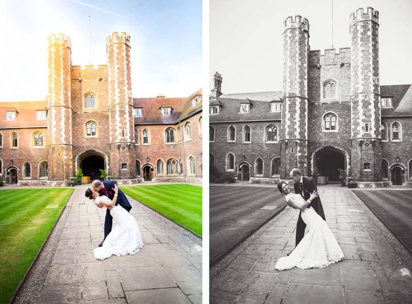 queens college Cambridge wedding