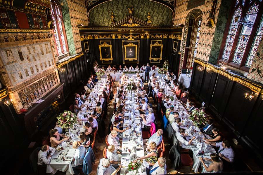 wedding breakfast in queen's college cambridge