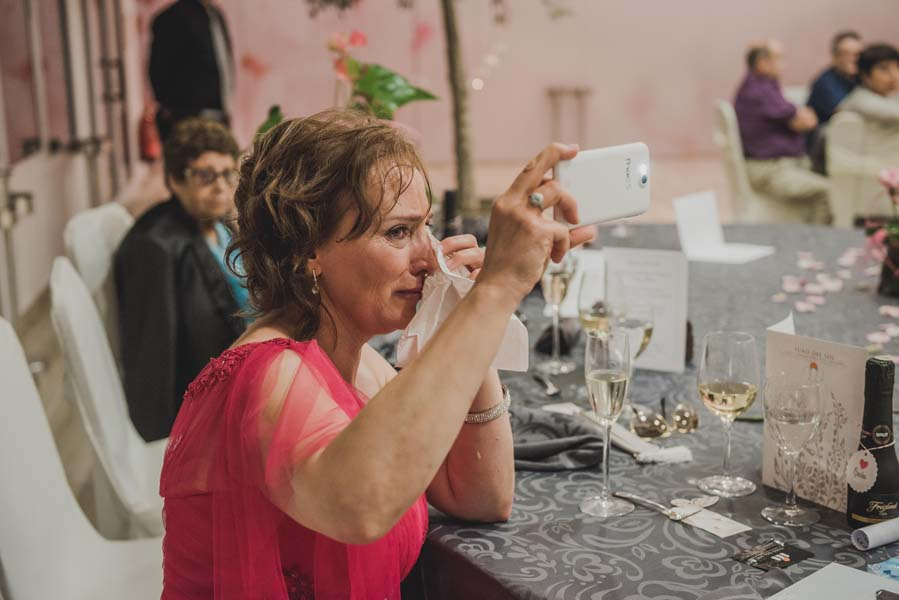 wedding guest takes photo