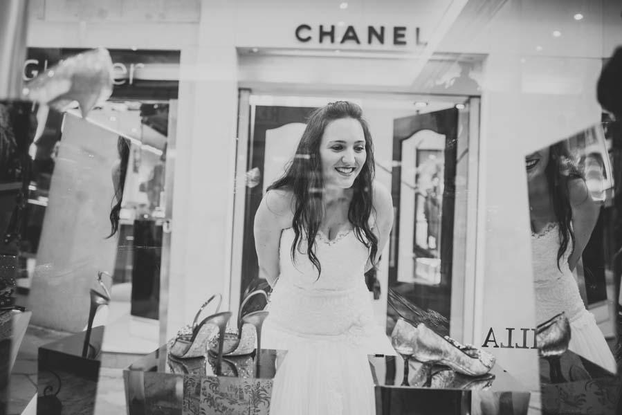 bride outside Chanel