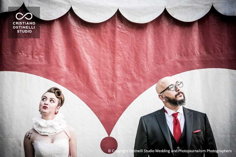 circus wedding Spazio Bizzarro cristiano ostinelli