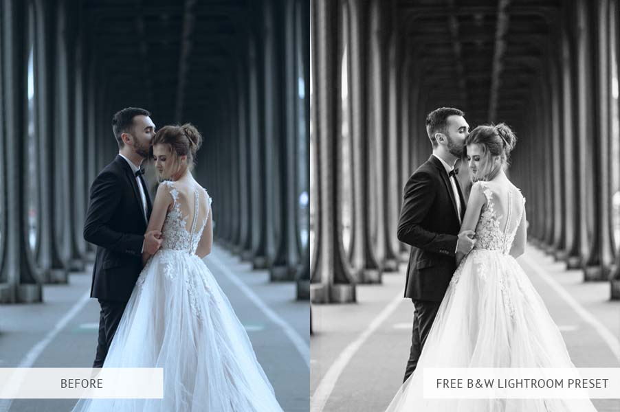 B&W wedding lightroom presets