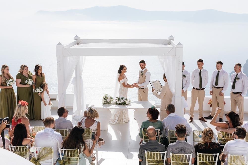 Dana Villas Wedding Venue  Santorini Wedding Venues  Locations
