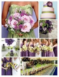 Wedding Color Palette Idea: Green and Purple Wedding ...