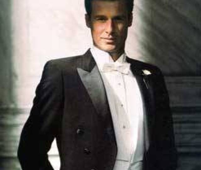 White Tie Outfit White Shirt Tie And Waistcoat