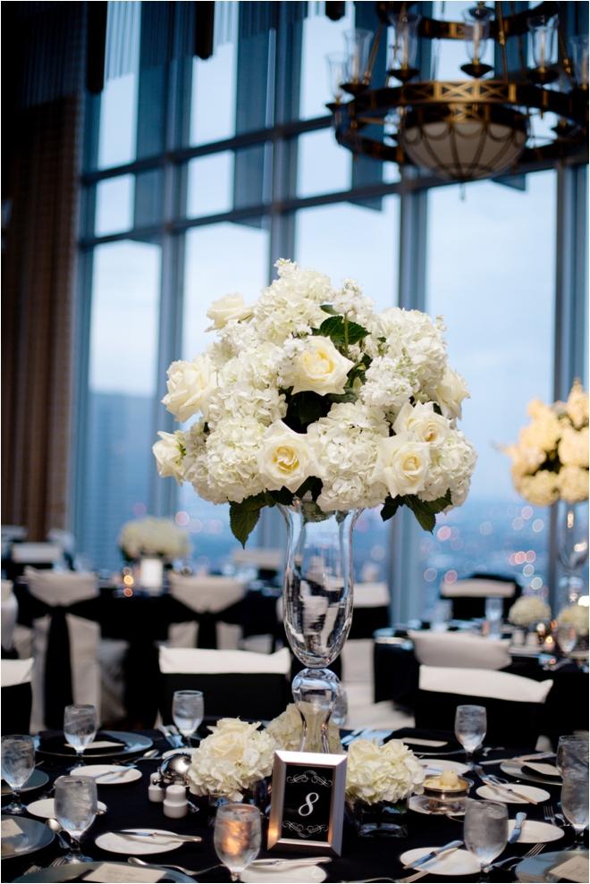 Elegant Ivory And Black Petroleum Club Wedding Houston