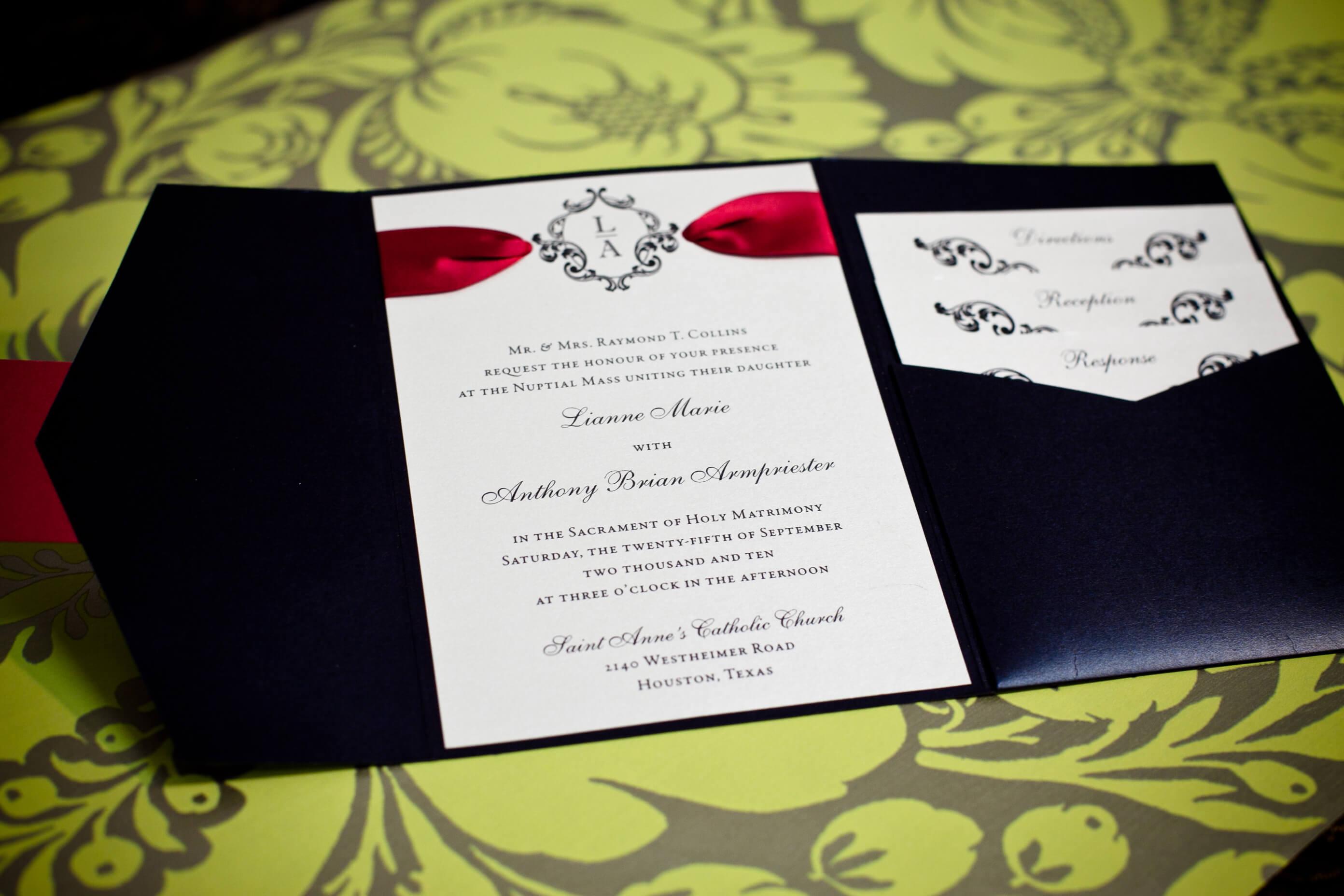 Isabella Invitations  Weddings in Houston