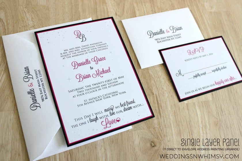Happily Ever After Fairy Tale Ending Elegant Wedding Invitation Invite Sle Suite