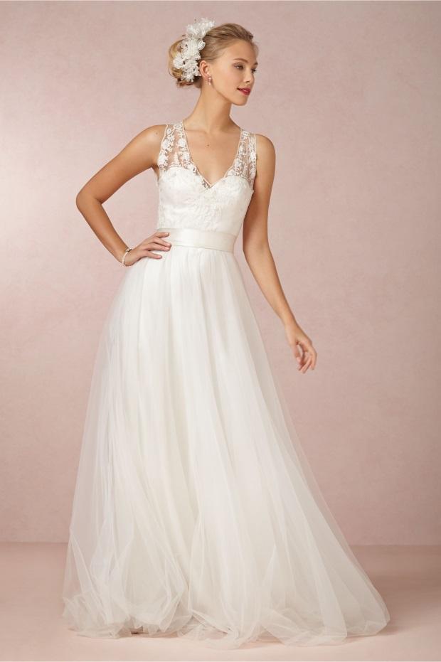 Top Destination Wedding Dresses and Trends 2014  weddingsonline