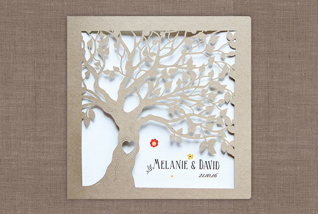Save The Date Tree Wedding Invite