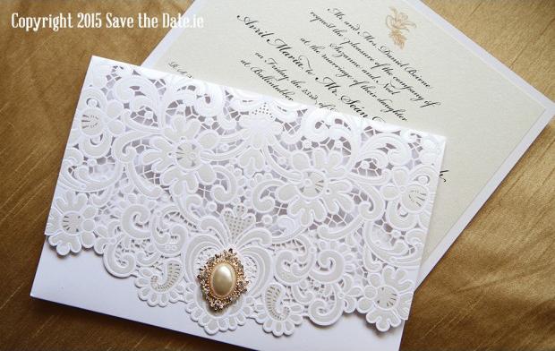 Laser Cut Pocketfold Wedding Invite