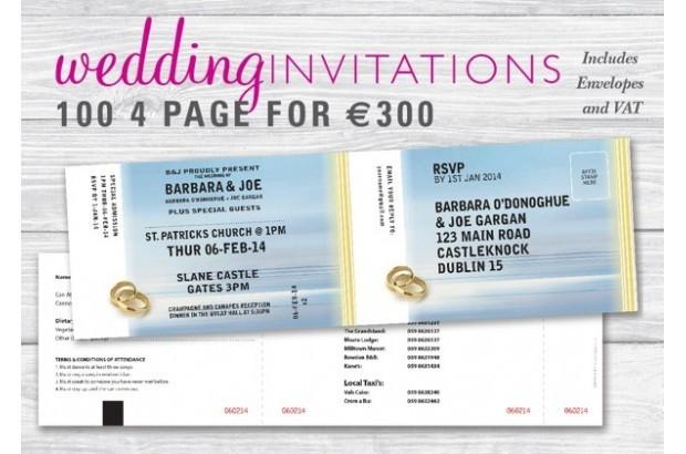 Wedding Invitations Impack Design Concert Ticket