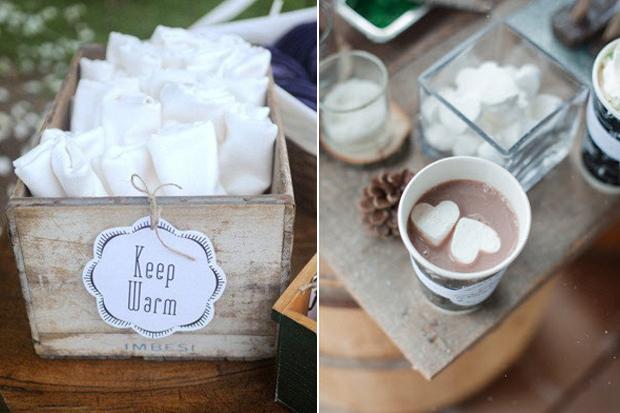 9 Cute  Cosy Ideas for Winter Wedding Guests  weddingsonline