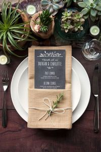 24 Fabulous Wedding Table Place Settings we'd Love to Sit