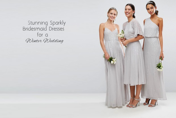 12 Stunning Sparkly Bridesmaid Dresses for a Winter