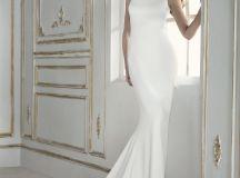 17 Chic, Minimal Wedding Dresses for Modern Brides images 12