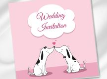 18 Beautifully Illustrated Wedding Invitations images 13