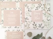 18 Beautifully Illustrated Wedding Invitations images 9