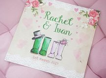 18 Beautifully Illustrated Wedding Invitations images 1