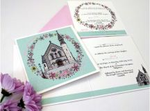 18 Beautifully Illustrated Wedding Invitations images 3