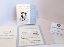 18 Beautifully Illustrated Wedding Invitations images 12