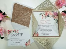 18 Beautifully Illustrated Wedding Invitations images 14