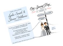 18 Beautifully Illustrated Wedding Invitations images 15