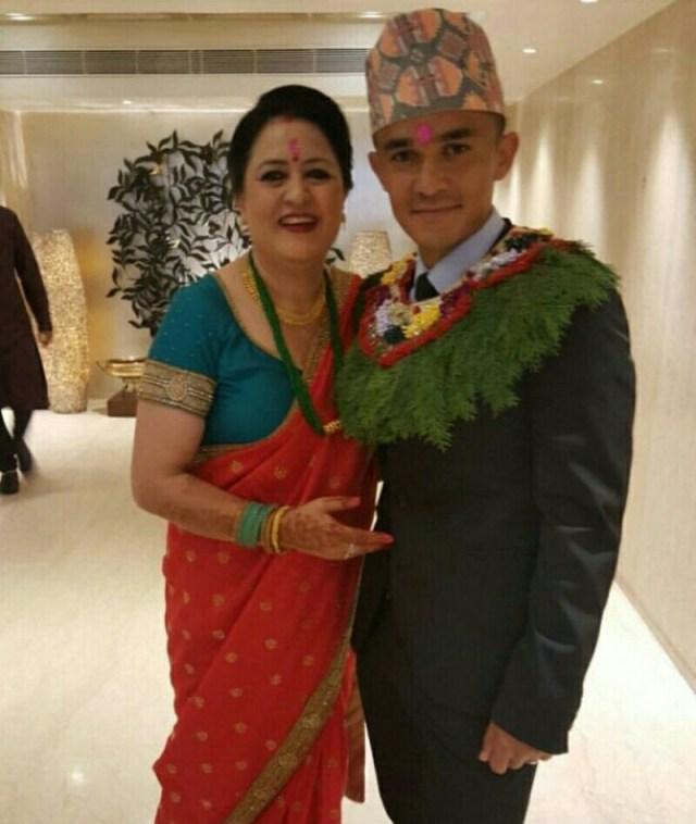 sunil chhetri marriage