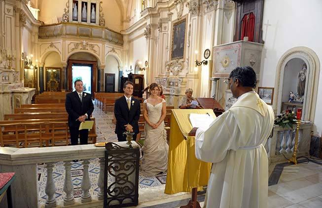 Catholic Wedding Ceremony in Amalfi Italy
