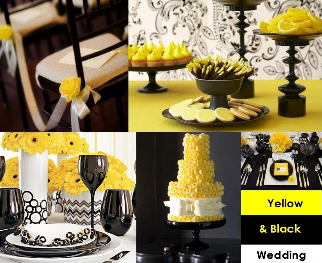 Yellow Black And White 50th Birthday Decorations