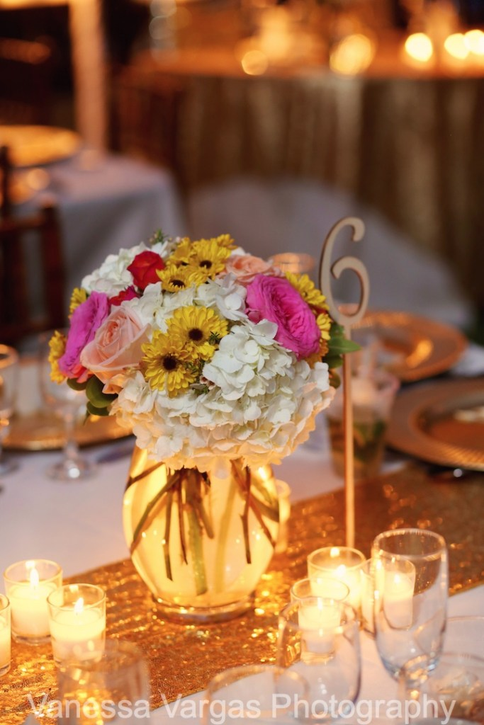 bohemian chic wedding centerpiece