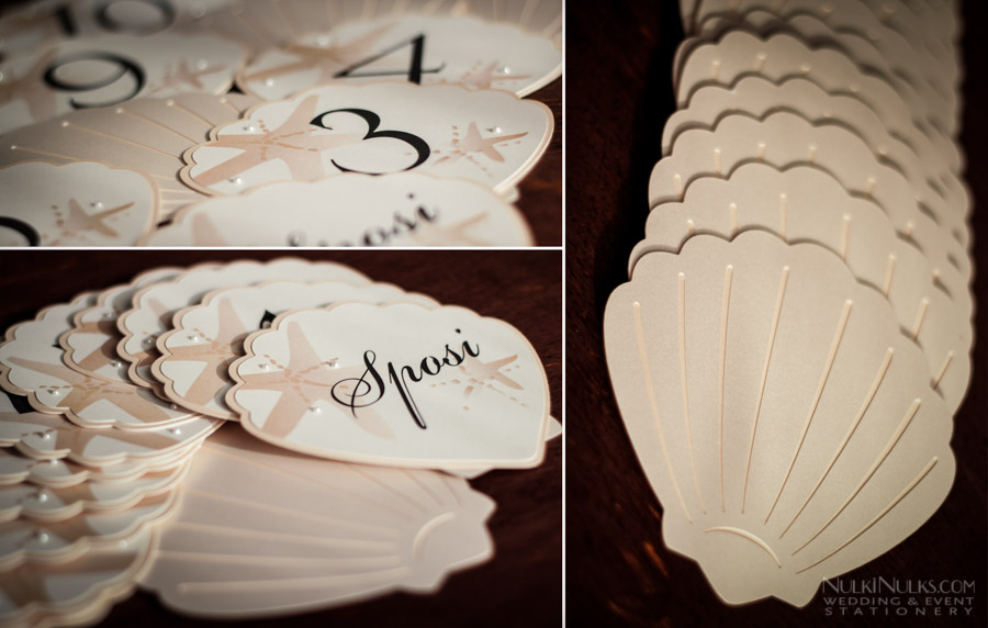Sea Shellthemed Wedding Invitations and Accessories